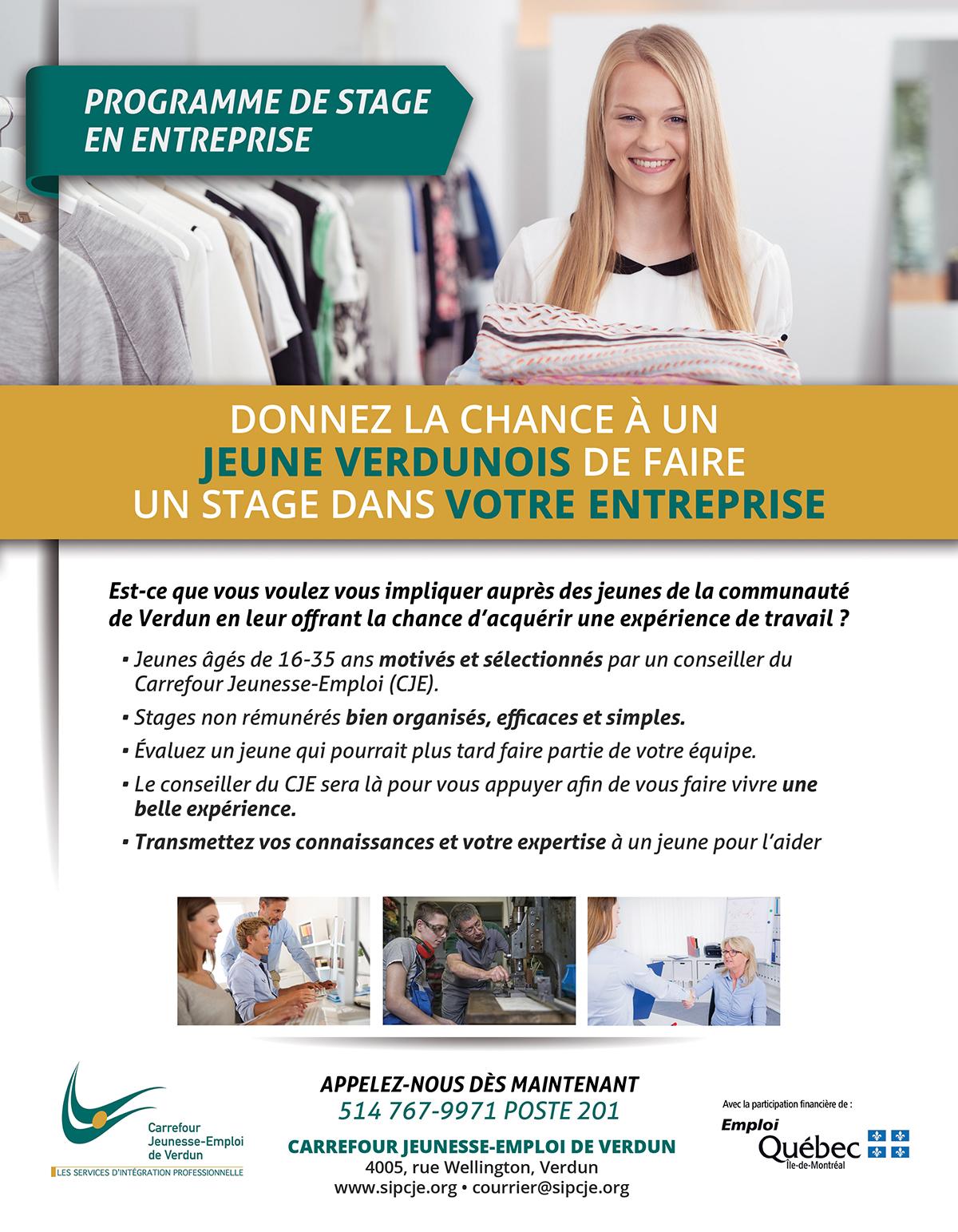 stage entreprise emploi Verdun