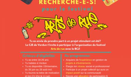 Volontaires recherché-e-s – Festival Arts de rue 2018