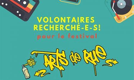 Arts de rue 2019 : Volontaires recherché-e-s!