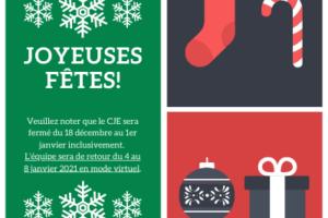 Joyeuses Fêtes de la part du CJE de Verdun!