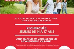 Action Prévention Verdun - Projet de Bénévolat - Déconfinement solidaire