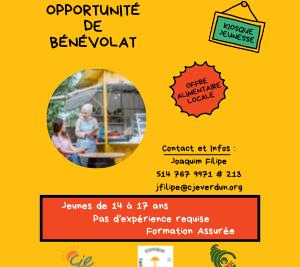 Devenez bénévole pour le kiosque Les saveurs d'été!