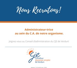 Poste au Conseil d'administration du CJE de Verdun